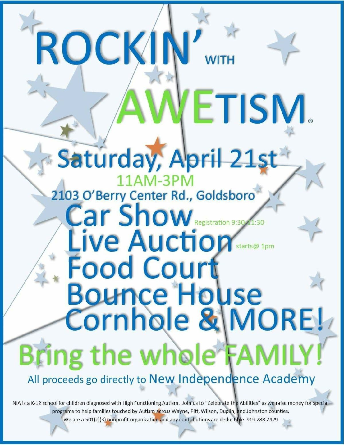 Rockin' With AWETISM® Car and Truck Show Flyer 2018