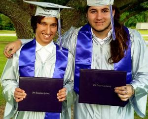 GRADS close up by tree