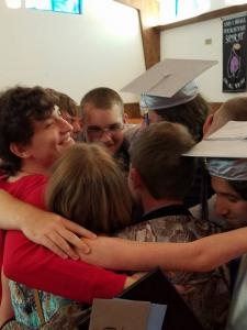 Grads and Friends Huddle